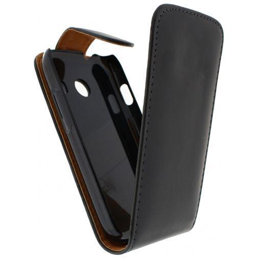 Productafbeelding van de Xccess Leather Flip Case Black Samsung Galaxy Ace Style