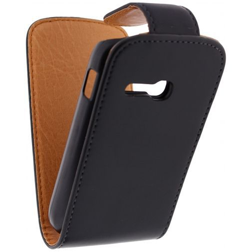 Productafbeelding van de Xccess Leather Flip Case Black Samsung Galaxy Fame Lite S6790
