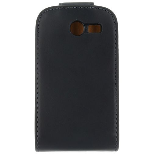 Productafbeelding van de Xccess Leather Flip Case Black Samsung Galaxy Pocket 2