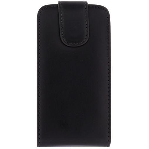 Productafbeelding van de Xccess Leather Flip Case Black Samsung Galaxy S5 Mini