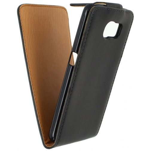 Productafbeelding van de Xccess Leather Flip Case Black Samsung Galaxy S6