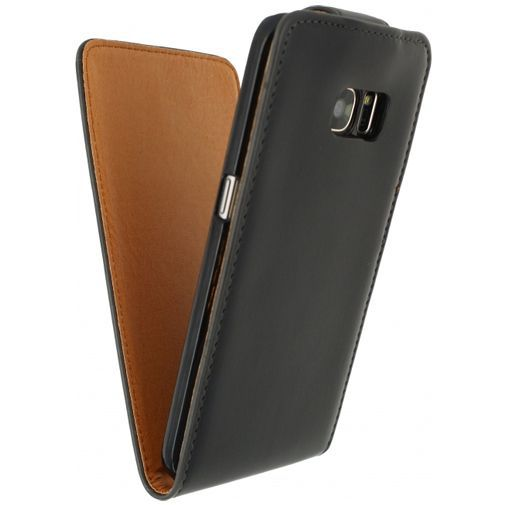 Productafbeelding van de Xccess Leather Flip Case Black Samsung Galaxy S7