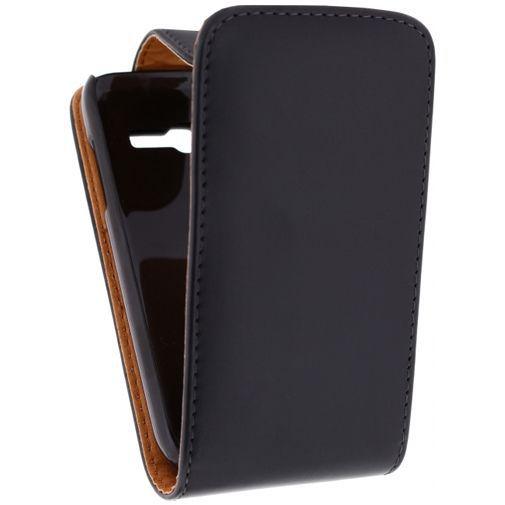 Productafbeelding van de Xccess Leather Flip Case Black Samsung Galaxy Trend Lite S7390