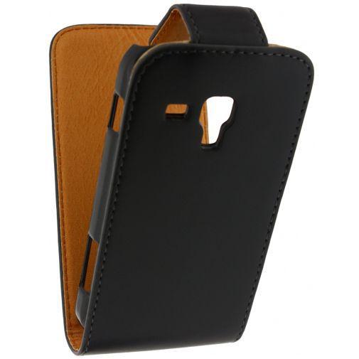 Productafbeelding van de Xccess Leather Flip Case Black Samsung Galaxy Trend (Plus)