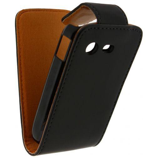 Productafbeelding van de Xccess Leather Flip Case Black Samsung S5280 Galaxy Star