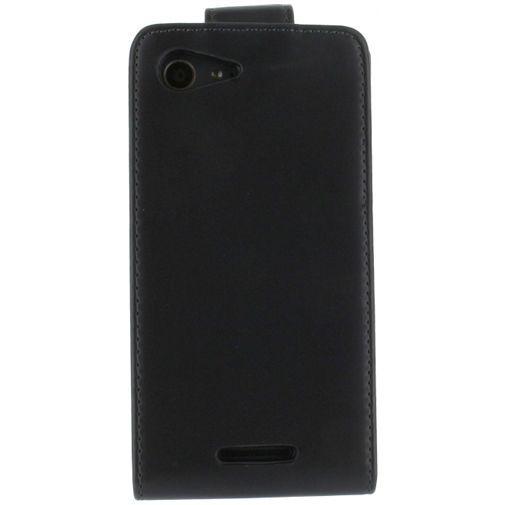 Productafbeelding van de Xccess Leather Flip Case Black Sony Xperia E3