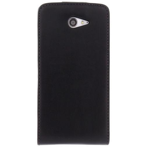 Productafbeelding van de Xccess Leather Flip Case Black Sony Xperia M2