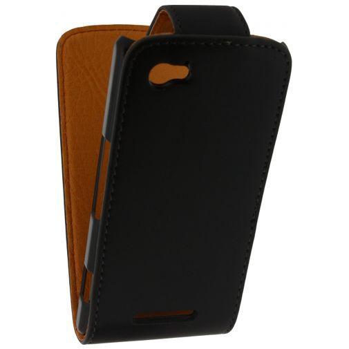 Productafbeelding van de Xccess Leather Flip Case Black Sony Xperia M