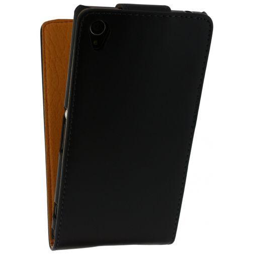 Productafbeelding van de Xccess Leather Flip Case Black Sony Xperia Z1