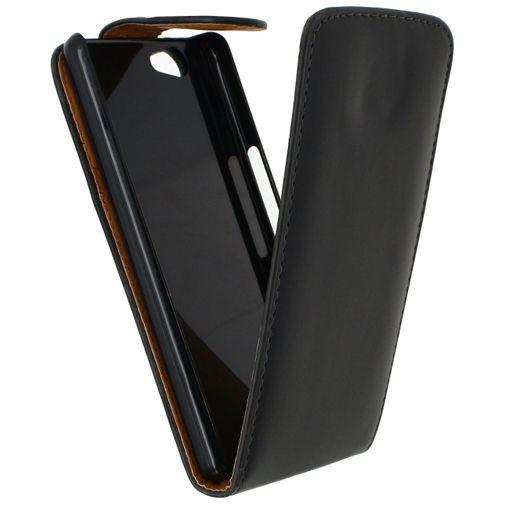 Productafbeelding van de Xccess Leather Flip Case Black Wiko Highway Signs