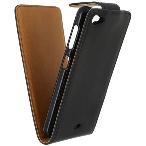 Productafbeelding van de Xccess Leather Flip Case Black Wiko Jimmy