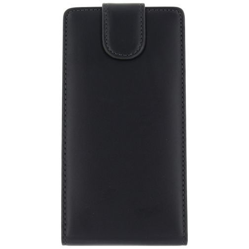 Productafbeelding van de Xccess Leather Flip Case Black Wiko Lenny