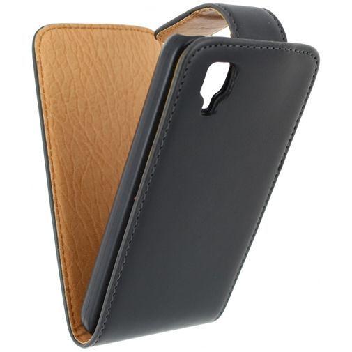 Productafbeelding van de Xccess Leather Flip Case Black Wiko Sunset