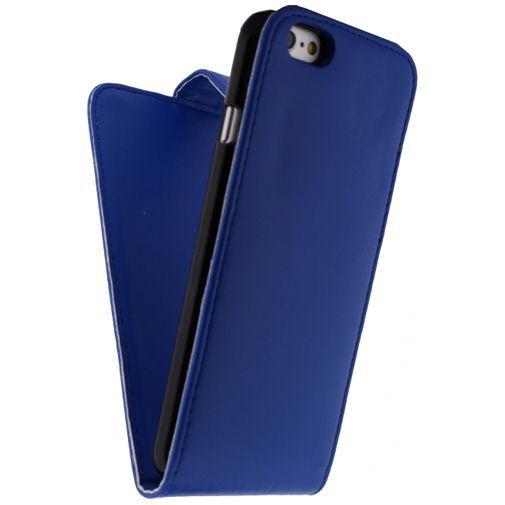 Productafbeelding van de Xccess Leather Flip Case Blue Apple iPhone 6/6S