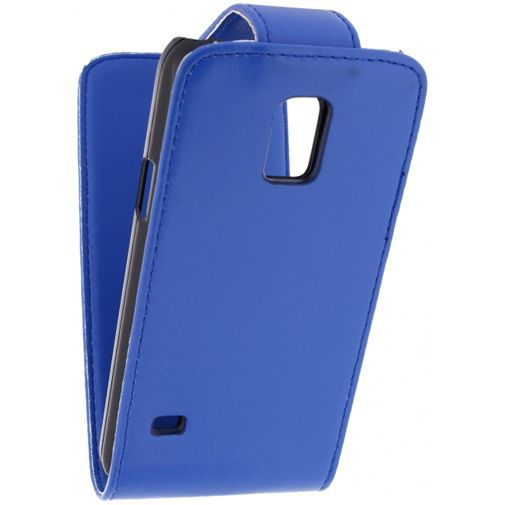 Productafbeelding van de Xccess Leather Flip Case Blue Samsung Galaxy S5 Mini