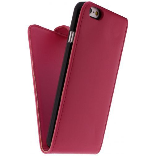 Productafbeelding van de Xccess Leather Flip Case Fuchsia Apple iPhone 6/6S