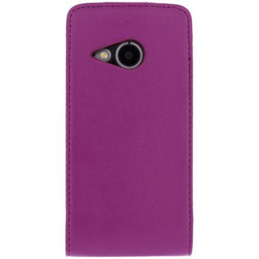 Productafbeelding van de Xccess Leather Flip Case HTC One Mini 2 Purple