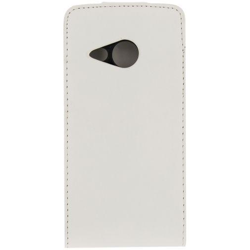 Productafbeelding van de Xccess Leather Flip Case HTC One Mini 2 White