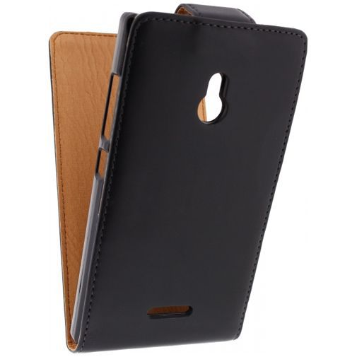 Productafbeelding van de Xccess Leather Flip Case Nokia XL Black