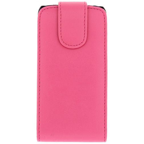 Productafbeelding van de Xccess Leather Flip Case Pink Samsung Galaxy S5 Mini