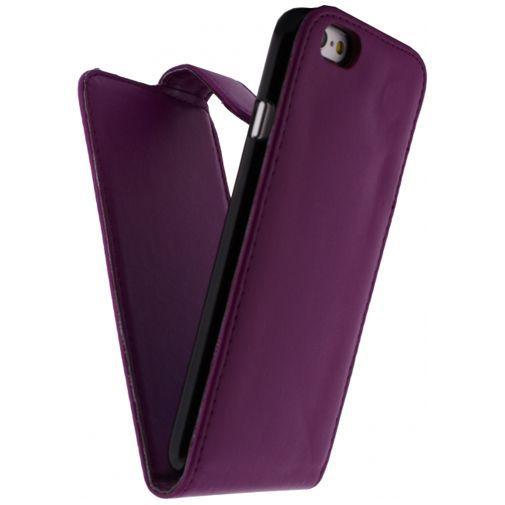 Productafbeelding van de Xccess Leather Flip Case Purple Apple iPhone 6/6S