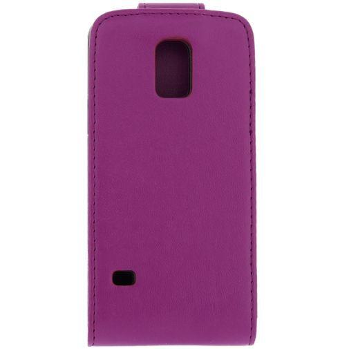 Productafbeelding van de Xccess Leather Flip Case Purple Samsung Galaxy S5 Mini