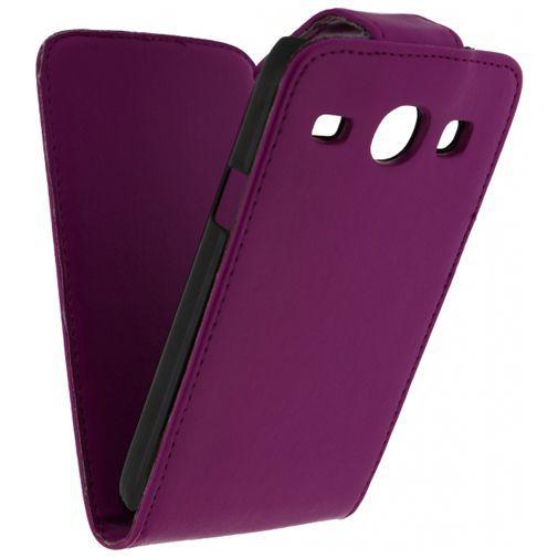 Productafbeelding van de Xccess Leather Flip Case Samsung Galaxy Core Purple