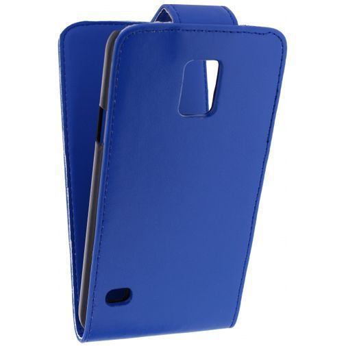 Productafbeelding van de Xccess Leather Flip Case Blue Samsung Galaxy S5/S5 Plus/S5 Neo