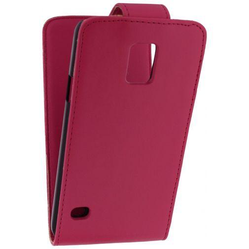 Productafbeelding van de Xccess Leather Flip Case Pink Samsung Galaxy S5/S5 Plus/S5 Neo
