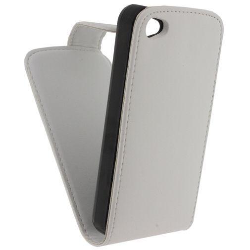 Productafbeelding van de Xccess Leather Flip Case White Apple iPhone 4/4S