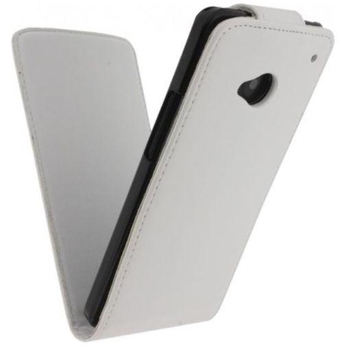 Productafbeelding van de Xccess Leather Flip Case White HTC One M8/M8s