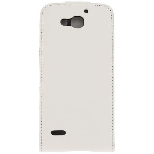 Productafbeelding van de Xccess Leather Flip Case White Huawei Ascend G750