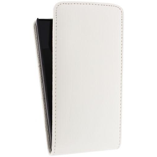 Productafbeelding van de Xccess Leather Flip Case White Huawei Ascend P7