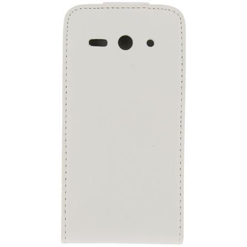 Productafbeelding van de Xccess Leather Flip Case White Huawei Ascend Y530