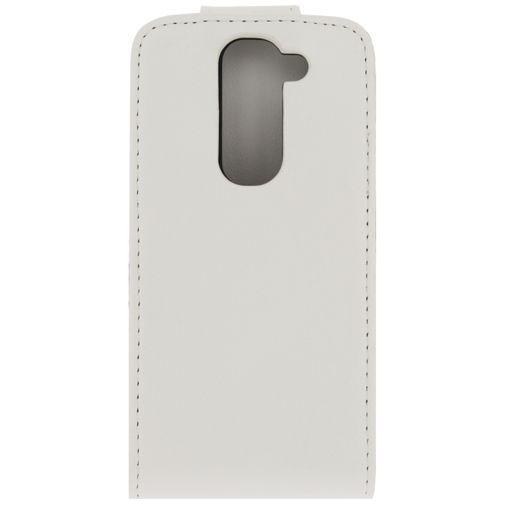 Productafbeelding van de Xccess Leather Flip Case White LG G2 Mini