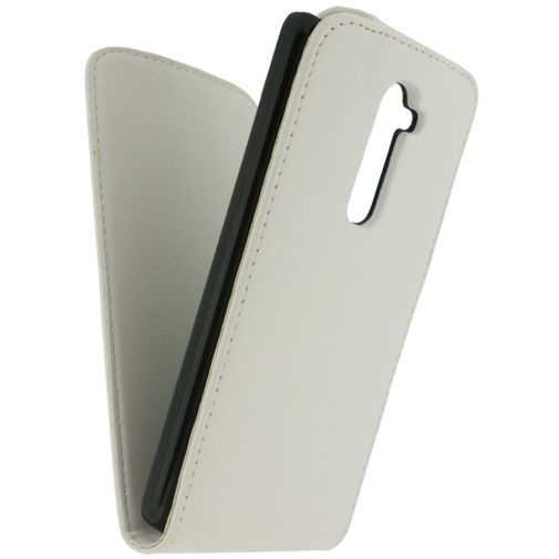 Productafbeelding van de Xccess Leather Flip Case White LG G2