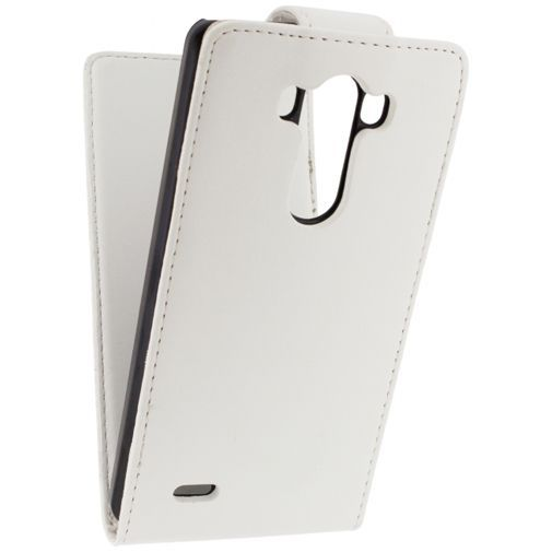 Productafbeelding van de Xccess Leather Flip Case White LG G3