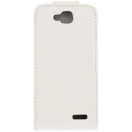 Productafbeelding van de Xccess Leather Flip Case White LG L90