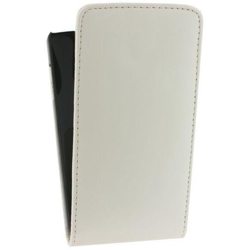 Productafbeelding van de Xccess Leather Flip Case White LG Nexus 5