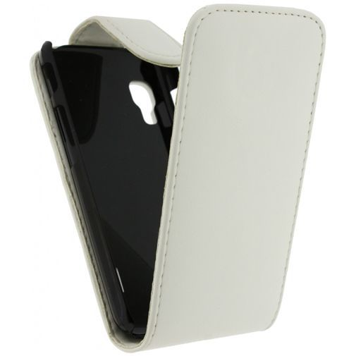 Productafbeelding van de Xccess Leather Flip Case White LG Optimus L5 II E460