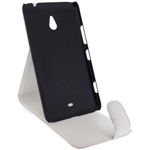 Productafbeelding van de Xccess Leather Flip Case White Nokia Lumia 1320