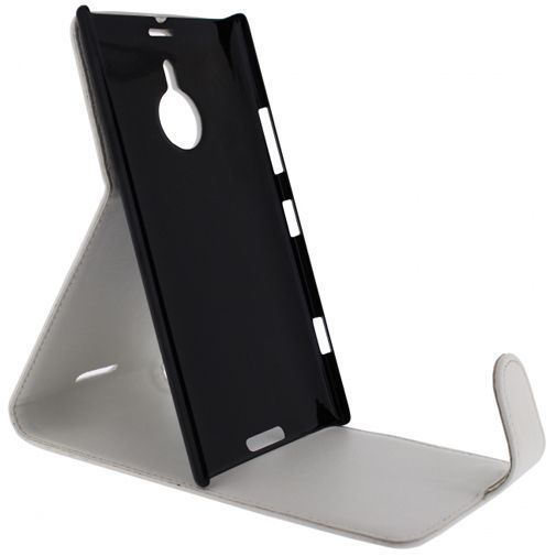Productafbeelding van de Xccess Leather Flip Case White Nokia Lumia 1520