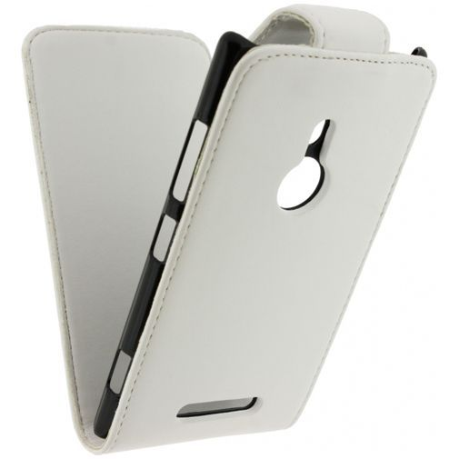 Productafbeelding van de Xccess Leather Flip Case White Nokia Lumia 925