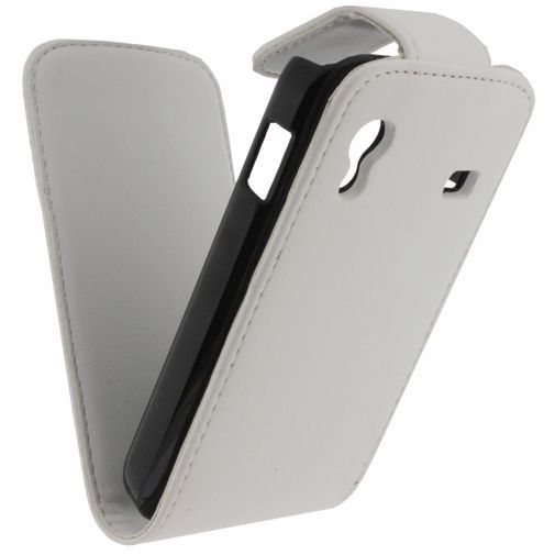 Productafbeelding van de Xccess Leather Flip Case White Samsung Galaxy Ace S5830