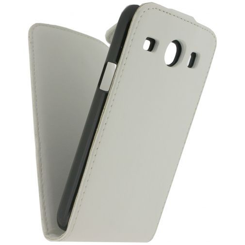 Productafbeelding van de Xccess Leather Flip Case White Samsung Galaxy Core I8260