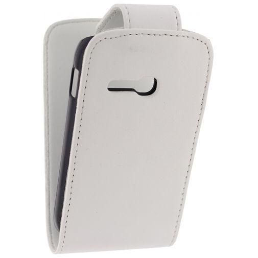 Productafbeelding van de Xccess Leather Flip Case White Samsung Galaxy Fame Lite S6790