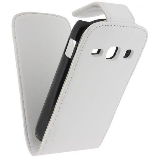 Productafbeelding van de Xccess Leather Flip Case White Samsung Galaxy Fame S6810
