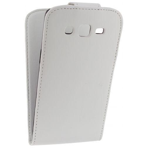 Productafbeelding van de Xccess Leather Flip Case White Samsung Galaxy Grand 2