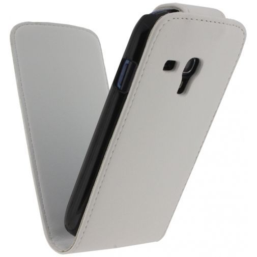 Productafbeelding van de Xccess Leather Flip Case White Samsung Galaxy S3 Mini (VE)