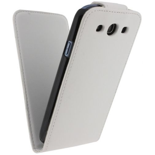 Productafbeelding van de Xccess Leather Flip Case White Samsung Galaxy S3 (Neo)